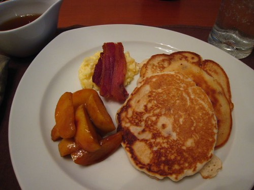 Bacon Pancakes with Spiced Apples