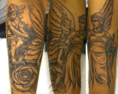 Angel-sleeve-10-tattoo by The Tattoo Studio