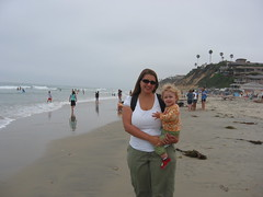 Mama and Sophie at Moonlight Beach
