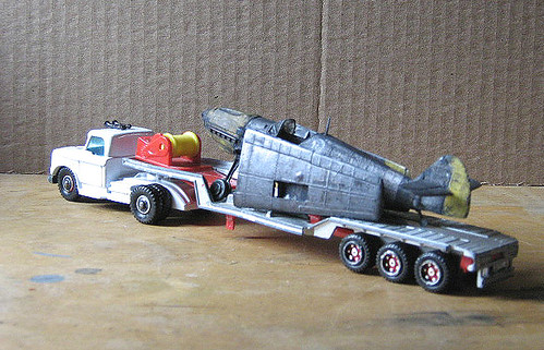 Dodge tractor and trailer with warbird