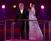Singers Placido Domingo and Song Zuying perform during the Closing Ceremony for the Beijing 2008 Olympic Games in the National Stadium on August 24, 2008 in Beijing, China.