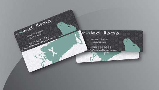 Exiled Llama Business Card 2