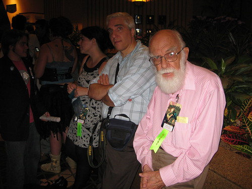 Left to Right: Pamela, Steve Novella, James Randi
