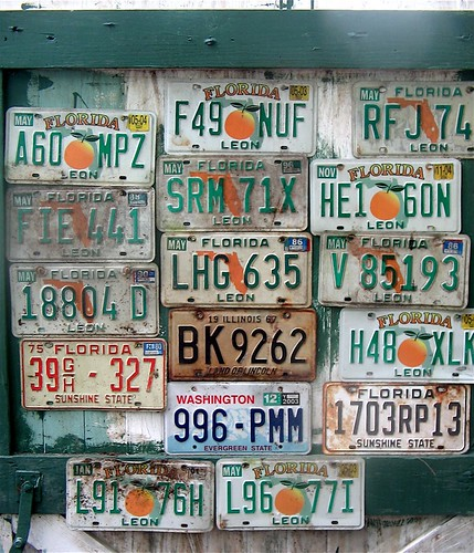 washington illinois florida licenseplates