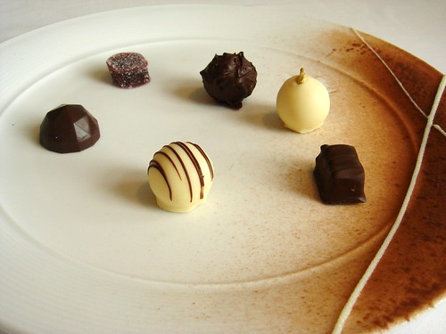 Handmade chocolate sampler