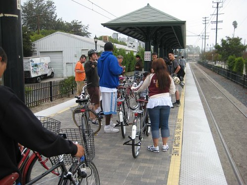 We took the majestic Gold Line, en masse, to South Pasadena.