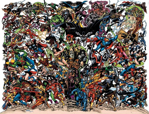 dc comics wallpaper. JLA/Avengers Wallpaper