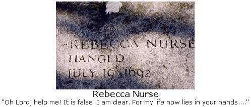 Rebecca Nurse Grave  - Salem Witch Trials