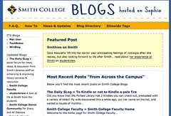 Image of Smith College Blogs