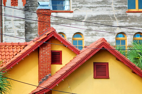 Two red roofs