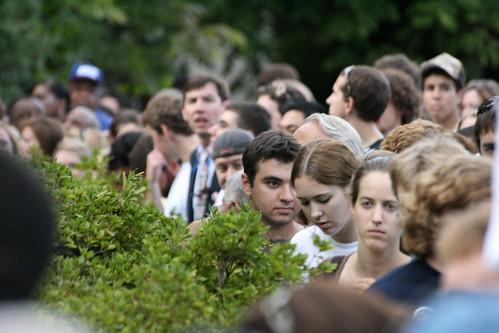 Impatient crowds.