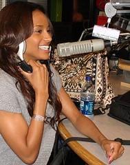 ciara at the radio station