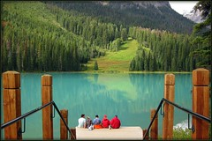 Emerald lake. (~sbkhan~) Tags: lake rockies columbia canadian british emerald yohonationalpark grouptripod