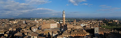 Siena-Pano-Torre (Karl-Heinz Bitter) Tags: city italien autumn sky italy panorama clouds landscape torre herbst himmel wolken tuscany stadt campo siena landschaft toskana nikond80