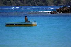 Lost In Paradise (Burning Image) Tags: ocean blue sea beach water beautiful yoga canon relax island bay emily dock paradise december norfolk platform australia lagoon meditation 08 plontoon