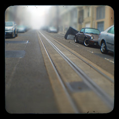 Cable Car Tracks (Steven Hight) Tags: sanfrancisco fog porsche russianhill cablecartracks ttv duaflexiii stevenhight