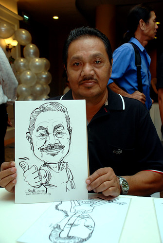 Caricature live sketching for Nippon Express Singapore Pte Ltd - 1