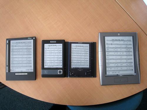 Comparaisons ebooks