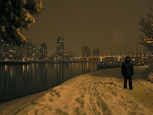 David in the False Creek Snow