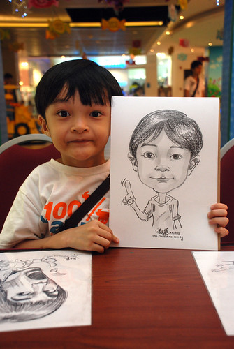 Caricature live sketching for Marina Square 3