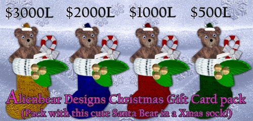 Xmas Gift Card board @shop