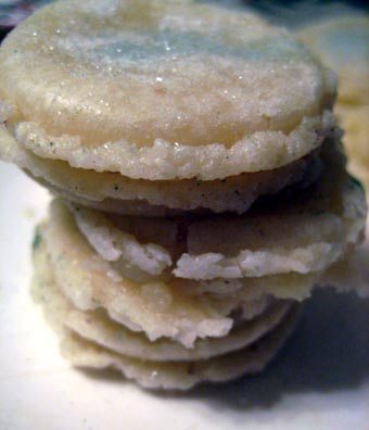 White Christmas Macarons
