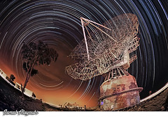 Space Storm (Jamal Alayoubi) Tags: abandoned station night star nikon war long exposure desert dish space fisheye trail arab damage kuwait nikkor 16mm d3 jamal aplusphoto alayoubi
