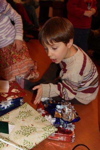 Opening Christmas Presents JDBoy
