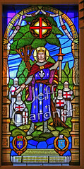St. Louis, King of France (*Jeff*) Tags: window minnesota stlouis stpaul stainedglass sword crown fleurdelis kingoffrance