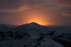 Crn Mhuinge (dougiebeck) Tags: road winter sunset white snow scotland highlands nikon december explore gloaming invernessshire fortaugustus darkscape whitebridge explored d80 goldstaraward goldenheartaward crnachuilinn cairnvungie
