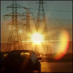 Solar Energy another sun rise (NaPix -- (Time out)) Tags: sun sunrise solar energy power traffic image explore electricity flair explorefrontpage napix