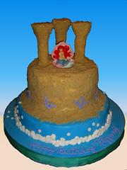 Sandcastle cake (Miss_Gigi) Tags: sea party cake kid fiesta little under infantil mermaid sandcastle cumpleaos