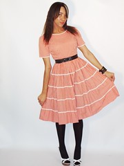 Vintage Red & White Check plaid  full skirt dress (vestedbee) Tags: red white vintage check dress redwhite skirt full gingham rockabilly plaid cherryred fullskirt daydress vtg swingskirt