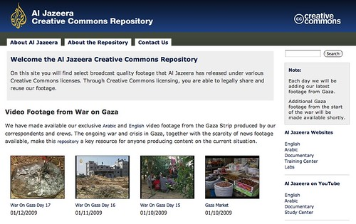 Al Jazeera's Creative Commons Repository