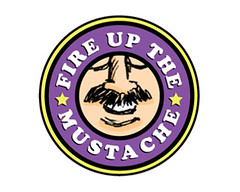 Fire Up The Mustache Logo (Mike Rohde) Tags: cooper 70s mustache cheesey