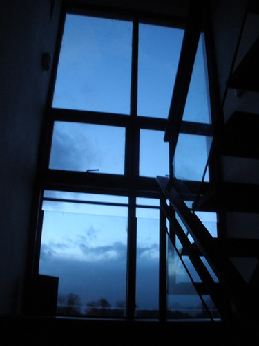 Evening sky and stairs