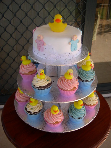 Mossy's Masterpiece Baby Shower Duck cake