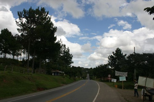 Typical landscape north of Popayán, Colombia.