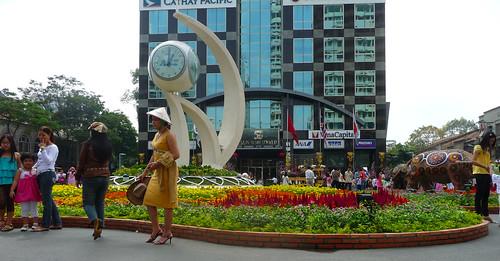 Tourist on Nguyen Hue