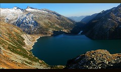 Kolnbrein Dam from Above (our cultural archive) Tags: nature water landscape austria path snowcapped osterreich cate spectacularlandscape copenhaver kolnbreindam oarsquare caranthia hohetaurenmountains