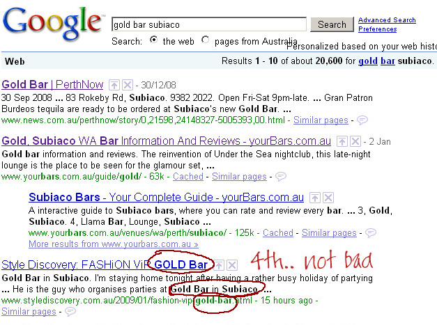 Gold-bar-subiaco-search-result