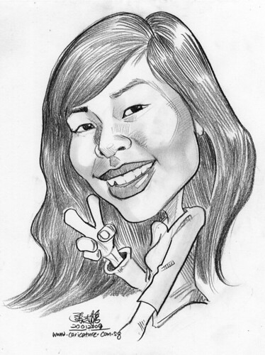 lady caricature in pencil 200109