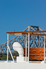 Kookaburra River Queen Paddle Steamer (Craig Jewell Photography) Tags: bridge blue sky river iso100 au paddle australia brisbane noflash story riverboat steamer 135mm 11250sec smcpentaxm135135mm kookaburrariverqueen 20090206153857imgp1853 craigjewellphotography