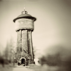 Waterworks Tower (Vincnt) Tags: blur tower history 6x6 architecture dof prague praha squareformat czechrepublic conceptual waterworks michle vodrna pavelhork wwwpavelhorakcom czechhasselbladphotographers michelskvodrenskv zelenlika