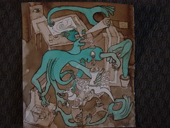 Recursive Creation (Alberto J. Almarza) Tags: visions dreams secrets gatekeeper liminal blueandbrown shapeshifting paralleldimensions albertojalmarza councilofintelligences bluechairexperiments recursivecreation