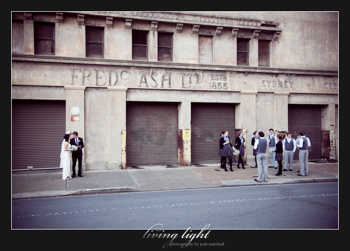 Wedding party at Fred Ash building, near Civic Park Newcastle.