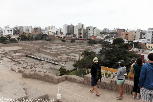 Lima city surrounding the ruins