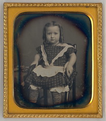 Baby Girl Daguerreotype (Mirror Image Gallery) Tags: daguerreotype victorianchildren bottlecurlssausagecurls