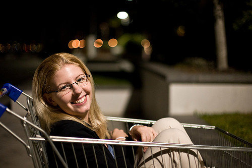 Andrea in trolley
