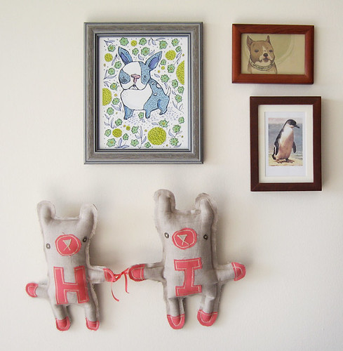 Alphabet Bear Wall Hanging Toy